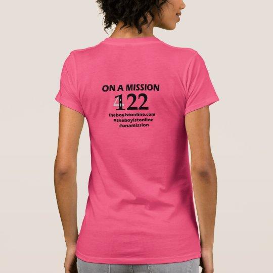 """""""Auf einer Dienstreise"""" T - Shirt-(rosa) schwarze T-Shirt"""