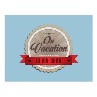 Auf Ferien in meinem Kopf Postkarte