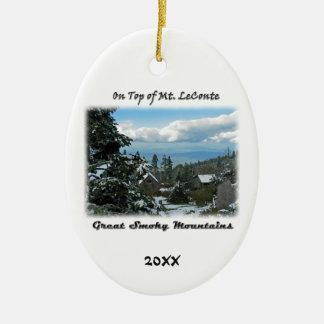 Auf Foto-Kunst Mt. LeConte G/M Ovales Keramik Ornament