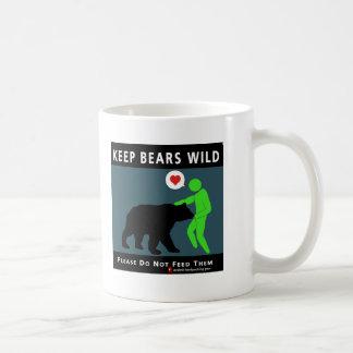 (auf Front) behalten Sie Bären wild Kaffeetasse