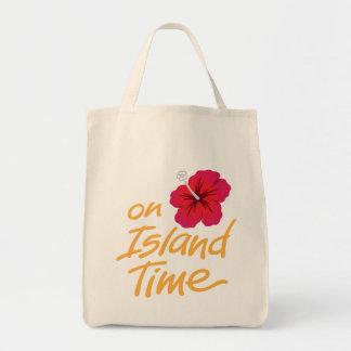 Auf Insel-Zeit-Andenken-Tasche mit Hibiskus Tragetasche