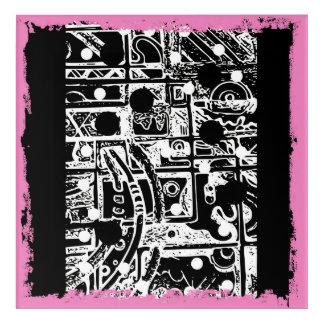 Auf Leinwand zu täfeln Platte, Acryldruck