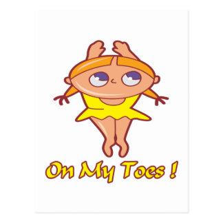 Auf meinem Zehe-Tänzer Postkarte