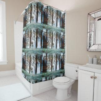 Auf Reflexions-Duschvorhang Duschvorhang
