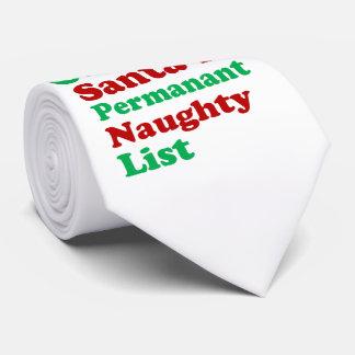 Auf Sankt dauerhaftem frechem Listen-Weihnachten Personalisierte Krawatte