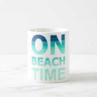 Auf Strand-Zeit-Typografie-Tasse Kaffeetasse