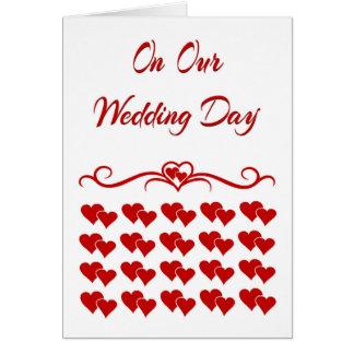 Auf unserer Hochzeitstag-Karte Grußkarte