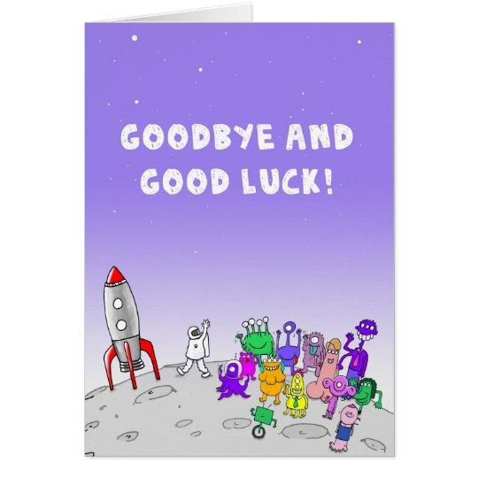Auf Wiedersehen und viel Glück Grußkarte