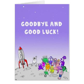 Auf Wiedersehen und viel Glück Karte