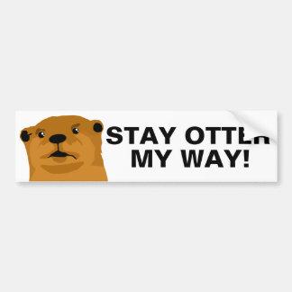 Aufenthalt-Otter meine Weise Autoaufkleber