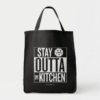 """""""Aufenthalt Outta die Küche"""" Pickleball Einkaufstasche"""