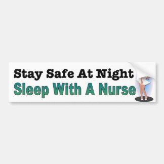 Aufenthalt-Safe nachts, Schlaf mit einer Autoaufkleber