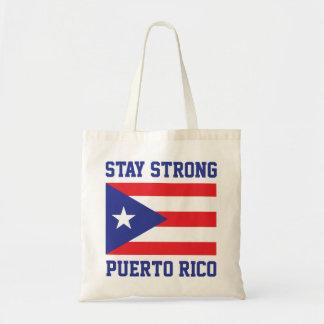 Aufenthalt starkes Puerto Rico nach Hurrikan Maria Tragetasche