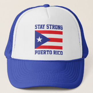 Aufenthalt starkes Puerto Rico nach Hurrikan Maria Truckerkappe