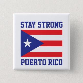 Aufenthalt starkes Puerto Rico Quadratischer Button 5,1 Cm