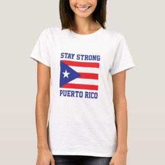 Aufenthalt starkes Puerto Rico T-Shirt