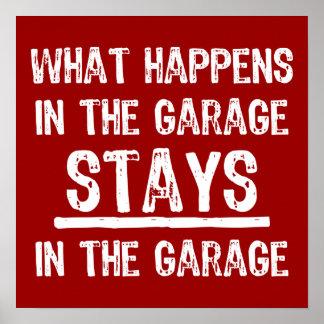 Aufenthalte im Garagen-Plakat Poster