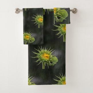Auffallende Sonnenblume Badhandtuch Set