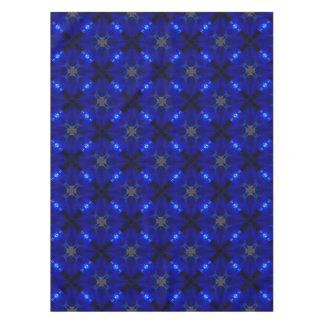 Auffällige blaue Fliesen Tischdecke
