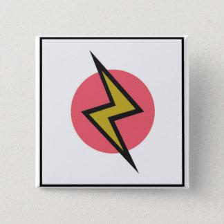 Auffälliger Blitz Quadratischer Button 5,1 Cm