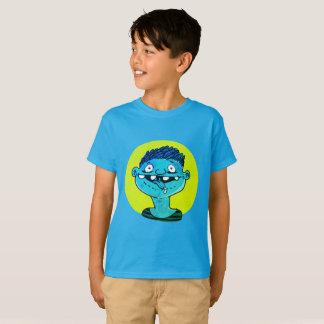 aufgeregter Junge zeigt Zunge lustigen Cartoon T-Shirt