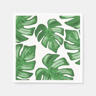 Aufgeteilter Blattphilodendron-tropische Papierserviette