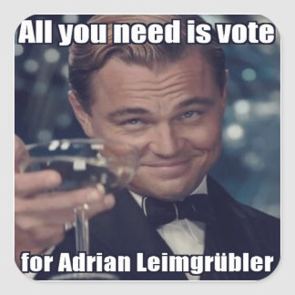 Aufkleber - All you need is vote for Adrian