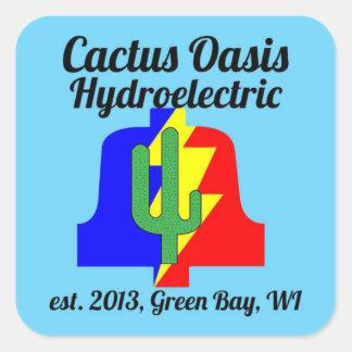 Aufkleber Cactus Oasis Hydroelectric Company