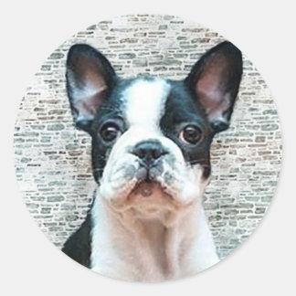 Aufkleber der französischen Bulldogge
