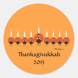 Aufkleber der Türkei Menorah Thanksgivukkah