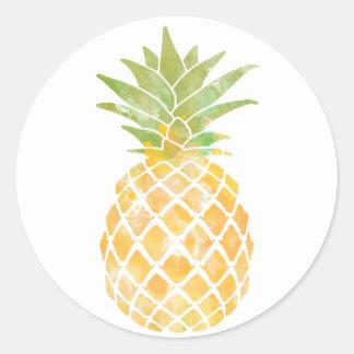 Aufkleber des Ananas-Aquarell-|