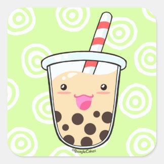 Aufkleber des Boba Milch-Tee-(Blasen-Tee)