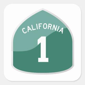 Aufkleber des Kalifornien-Staats-Weg-1/Landstraße