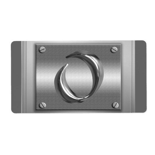 Aufkleber des Metallmonogramm-Anfangsbuchstabe-O Versandetikett