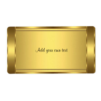 Aufkleber-Gold groß