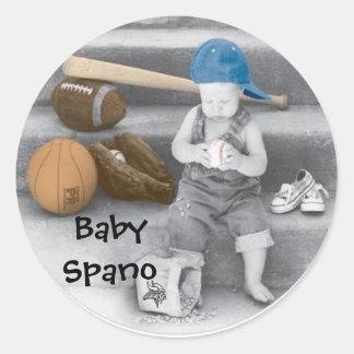 Aufkleber, Logo, Baby Spano Runder Aufkleber
