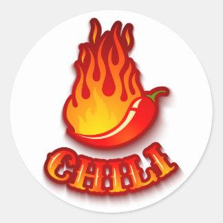 Aufkleber mit einem Rot - heißer Chilipfeffer