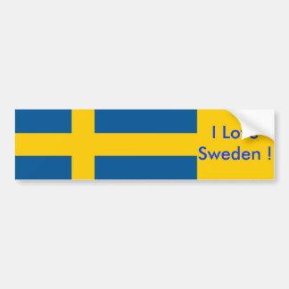 Aufkleber mit Flagge von Schweden Autoaufkleber