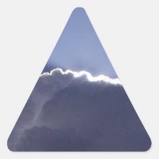 Aufkleber mit Foto der Wolke mit silbernem Futter