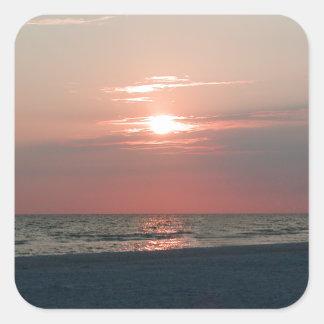 Aufkleber mit Foto des schönen Sonnenuntergangs