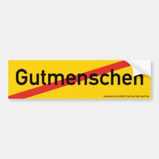 """Aufkleber: Orts-Ende-Schild: """"Gutmenschen"""" (Satire Autoaufkleber"""