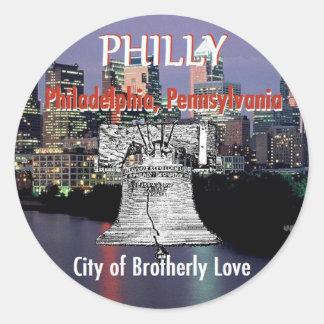 Aufkleber Philadelphias Pennsylvania