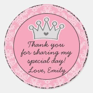 Aufkleber Prinzessin-Black Pink Gift Favor