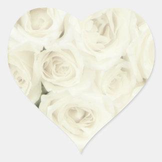 Aufkleber-Rosen Herz Sticker