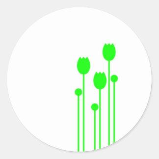 Aufkleber Sticker floral blume grün