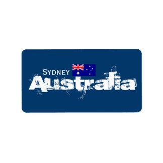 Aufkleber Sydneys, Australien Adressetiketten