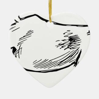 Aufladenziege Keramik Ornament