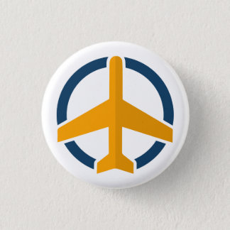 Aufmerksamer Luftfahrtknopf Runder Button 2,5 Cm