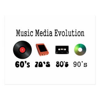 Aufnahme-Medium-Evolution Postkarte