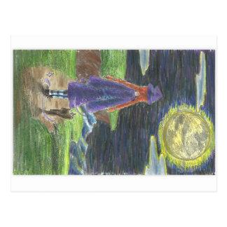 Aufpassen der Mondpostkarte Postkarte